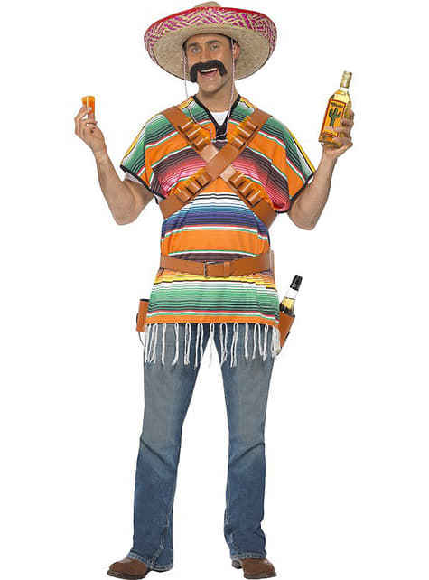 Mexicaner der drikker tequila kostume til mand