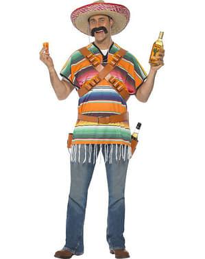Costume da messicano che serve Tequila da uomo