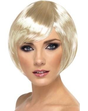 Peruka blond bob z grzywką