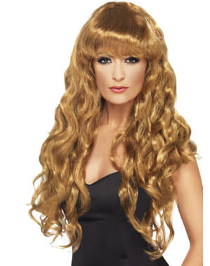 Long Brown Wig with Fringe