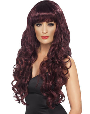 Long Auburn Wig with Fringe