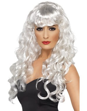 White Ghost Wig with Fringe