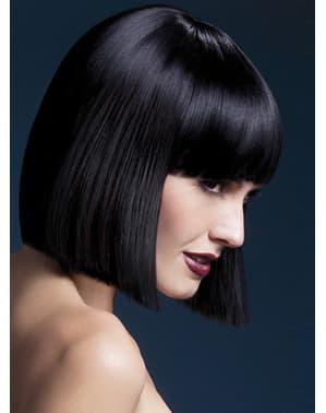 Черна перука на Лола