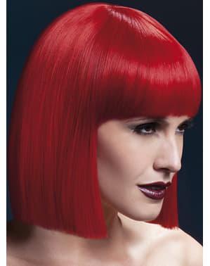 Rød Lola Parykk