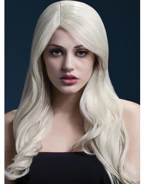 Vaalea Nicole peruukki