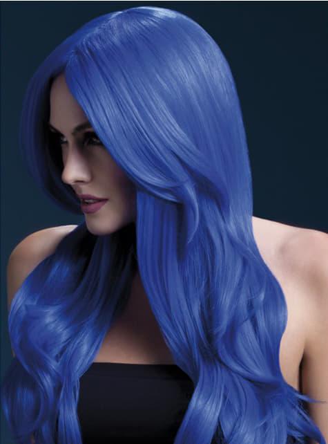 Синій хлопок перуку