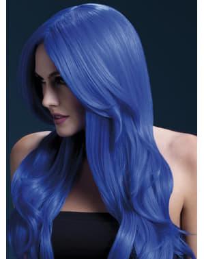 Pruik blauw Khloe