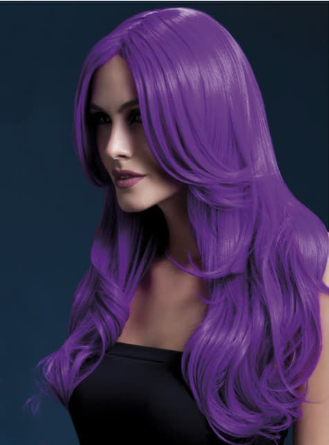 Purple Khloe wig