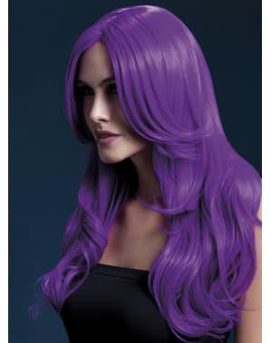 Purple Khloe wig