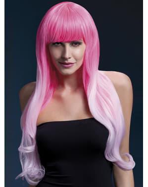 Peruca Emily cor-de-rosa