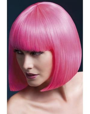 Glatte Perücke pink