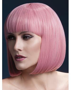 Glatte Perücke rosa pastell