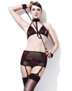 Queen of Hearts Be Mine lingerie set