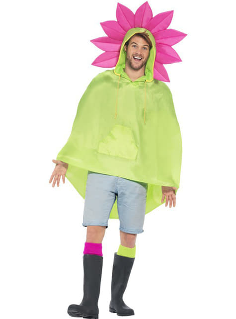 Party Poncho Flor - para tu disfraz