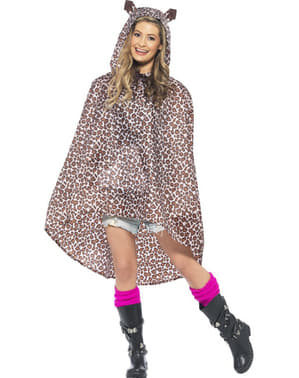 Party leopard poncho