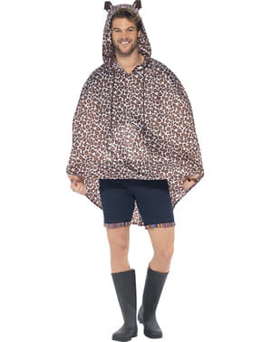Leopard Party Poncho Regen Cape Regenmantel