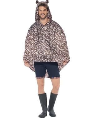 Leopard Party Poncho Regen Cape Regenmantel