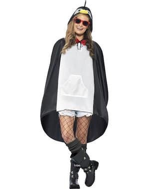 Pinguin Party Poncho Regen Cape Regenmantel