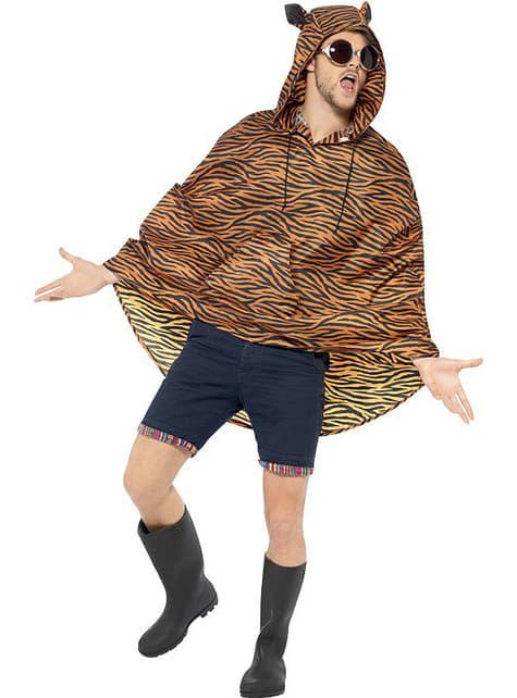 Party Poncho Tigre - para tu disfraz