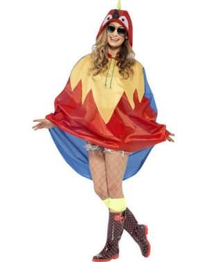 Papagei Party Poncho Regen Cape Regenmantel