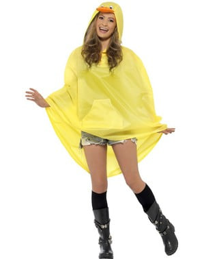 Ente Party Poncho Regen Cape Regenmantel
