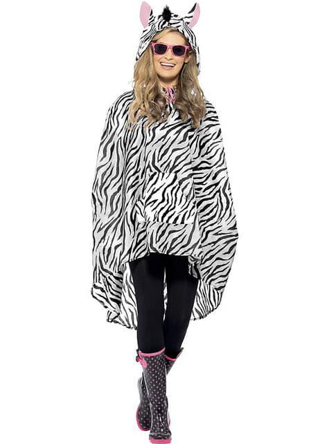 Party zebra poncsó
