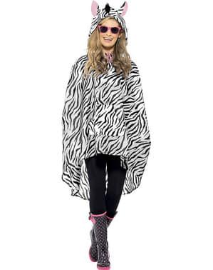Party pončo zebra