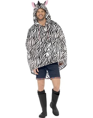 Feest poncho zebra