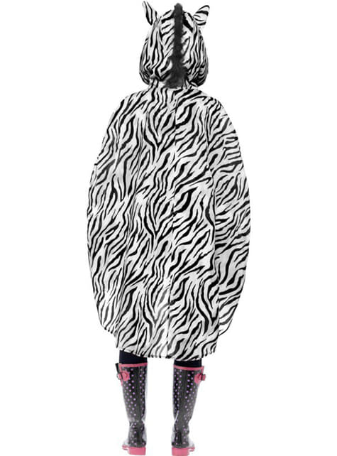 Party Poncho Zebra