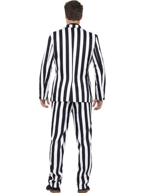White and Black stripes Suit