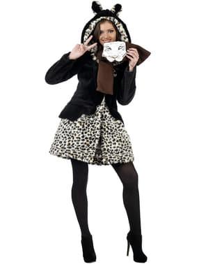 Чарівні леопарда зимове пальто і шарф комплект
