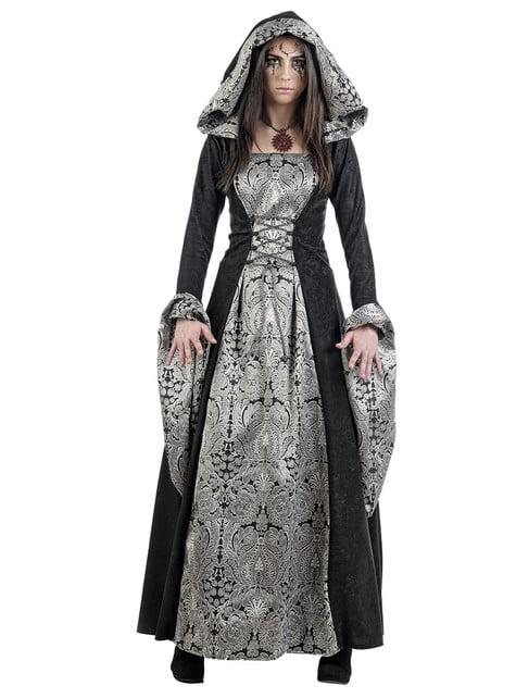 Disfraz de dama medieval misteriosa
