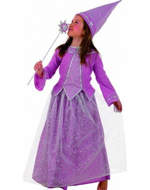 Mauve fairy costume for a girl