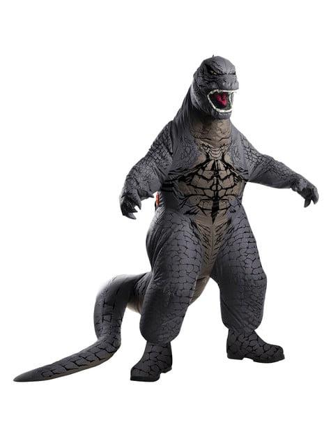 Disfraz de Godzilla hinchable deluxe para hombre