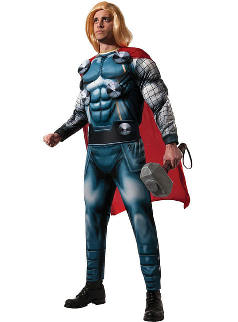 Fato de Thor Marvel Classic deluxe para homem