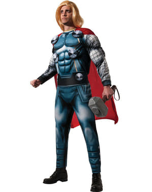 Deluxe Thor Marvel costume for a man