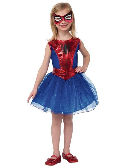 Spidergirl kostume med balletskørt til piger