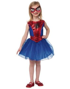 Dievčenský kostým s tylovou sukničkou Spidergirl