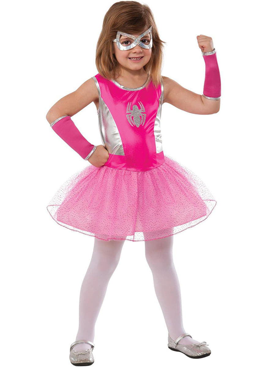 spidergirl kost m f r m dchen tutu pink funidelia. Black Bedroom Furniture Sets. Home Design Ideas