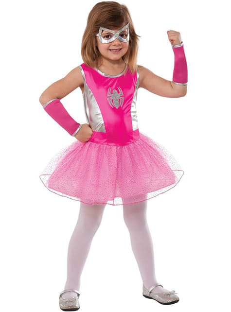 Spidergirl pink tutu costume for a girl