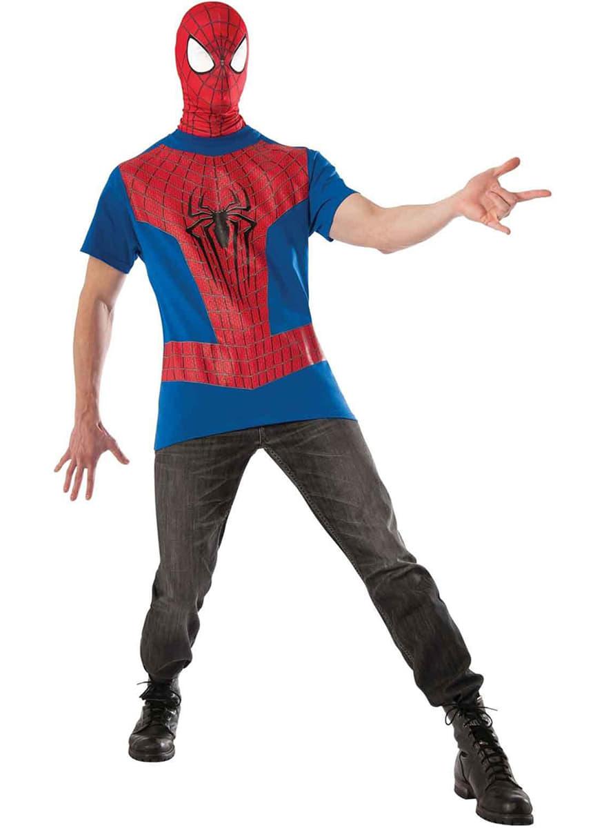 spiderman kost m set f r herren the amazing spiderman 2. Black Bedroom Furniture Sets. Home Design Ideas
