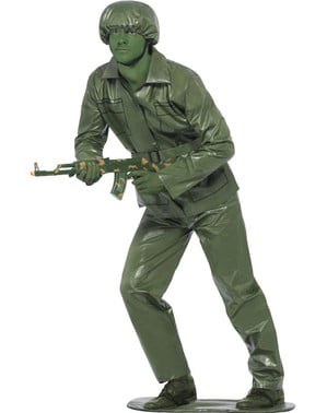 Toy soldier costume for a man