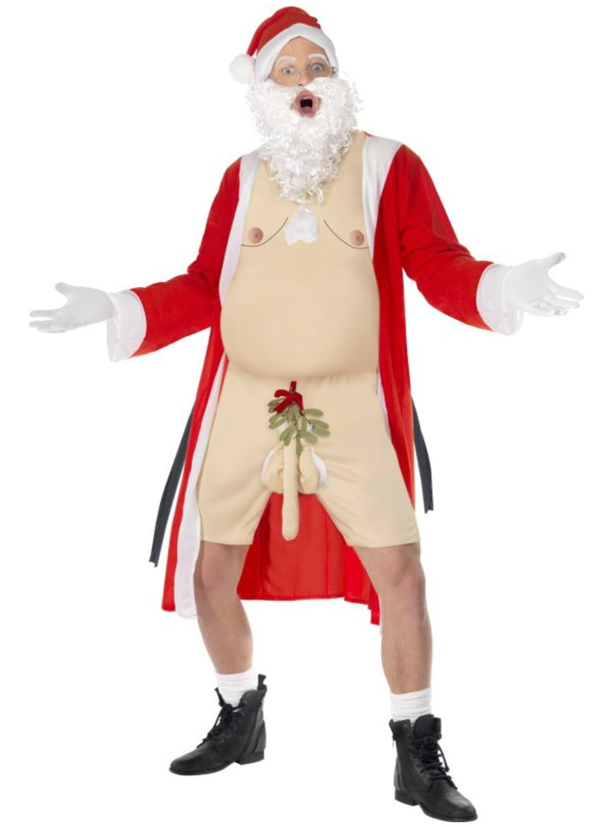Father Christmas exhibitionist costume for a man. The ...