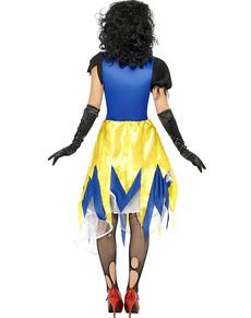 Costume da Bianca come la neve zombie da donna