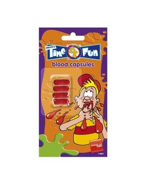 Kapsułki ze sztuczną krwią