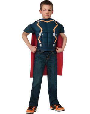 Kit muskulösa Thor dräkt barn