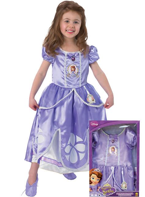 Fato de Princesa Sofia para menina em caixa