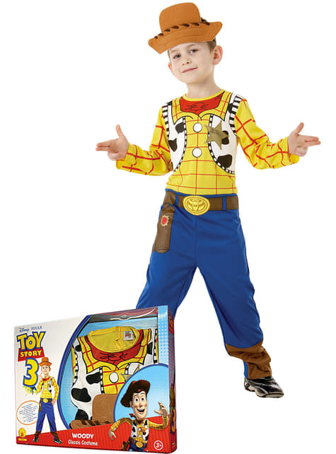 Woody Toy Story costume for a child in a box