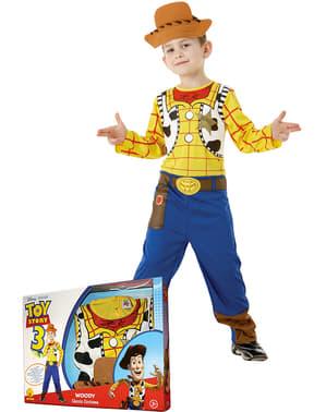 Toy Story Woody kostume til drenge i kasse