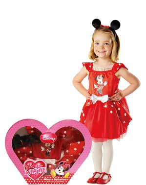 Fato de Minnie Mouse Bailarina para menina em caixa